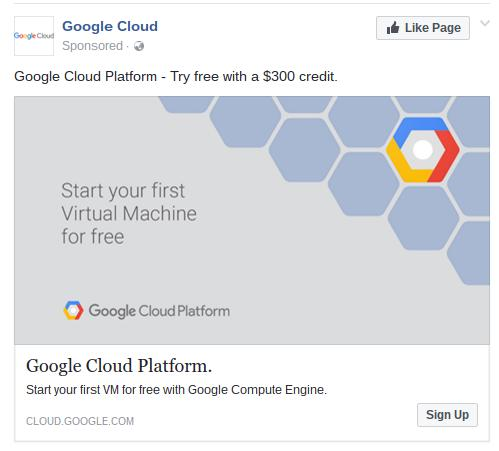 Social media content by Google Cloud