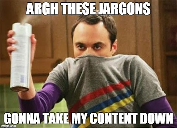 use of jargon in content