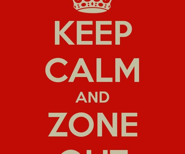 Zone out to focus better