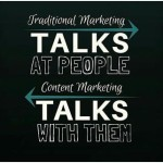 Content marketing and traditional marketing