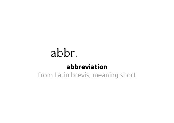 Guide to common writing abbreviations