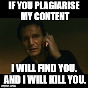 Why you should never plagiarise your content